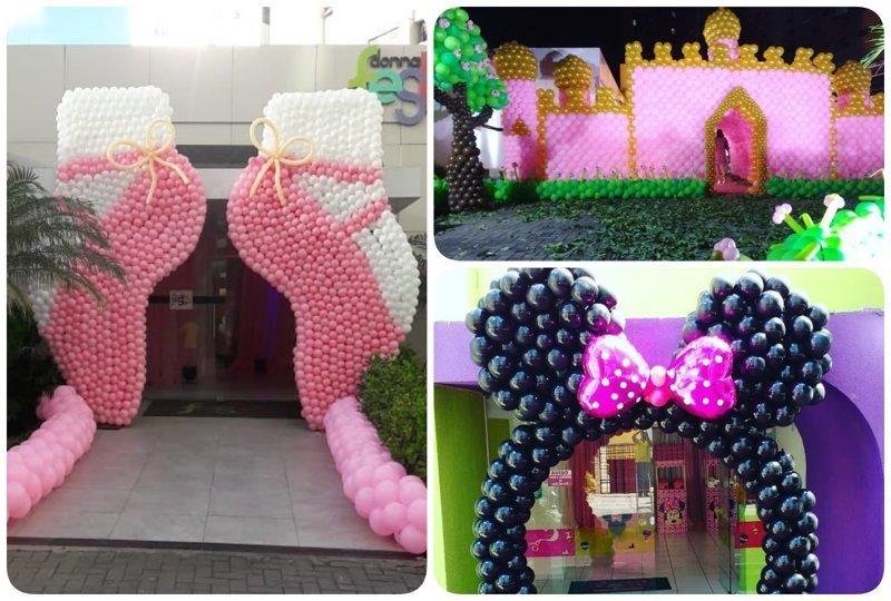 Невероятные декорации из обычных шариков