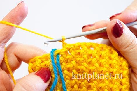 Вязание крючком для начинающихноски 2