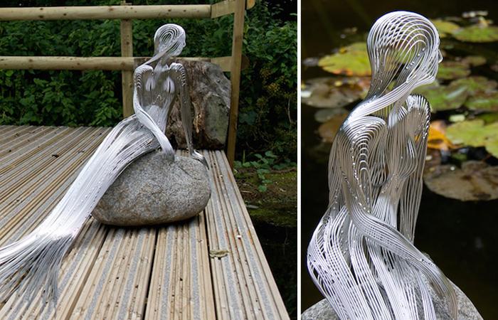 Художник создаёт изящные проволочные скульптуры, удивляющие реалистичностью