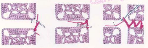 Пример соединения для плечевого шва