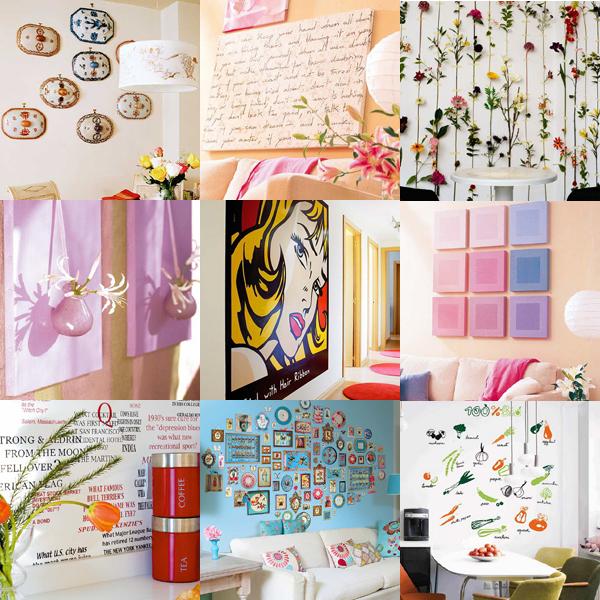 10 способов оригинально украсить стены (45 фото)