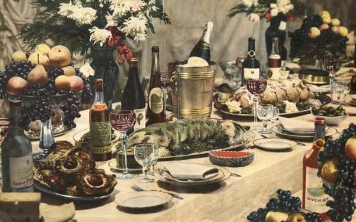 Что было на новогоднем столе советского человека
