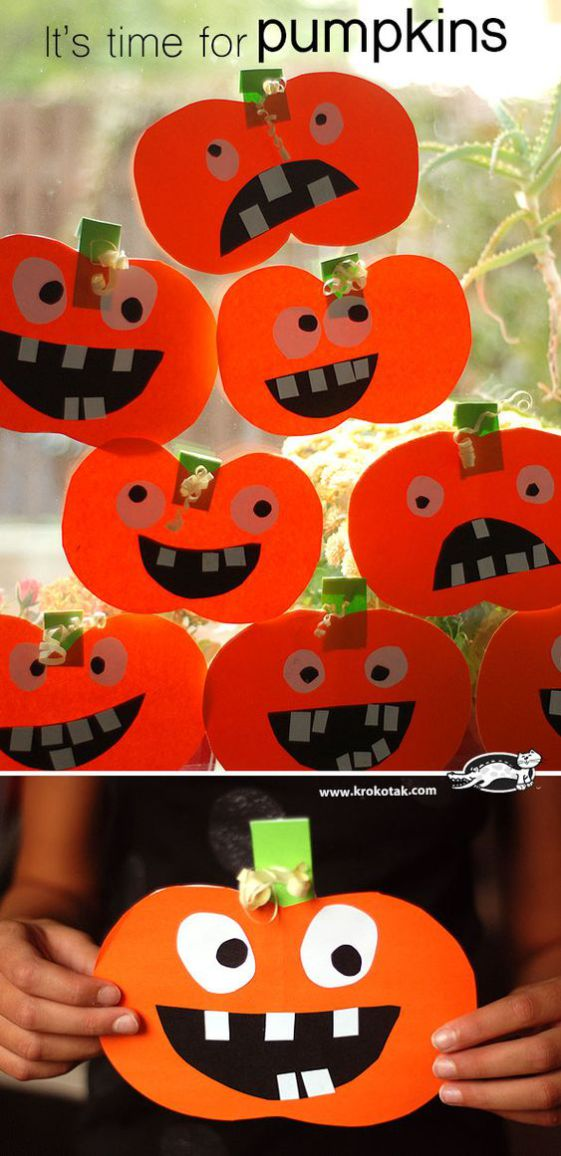 Тыква из бумаги: 10 идей к Хэллоуину