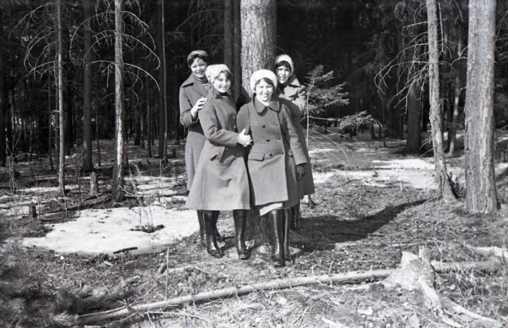 В весеннем лесу. Апрель 1980.