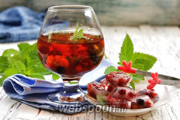 Фото Как изготовить цветной лёд для напитков