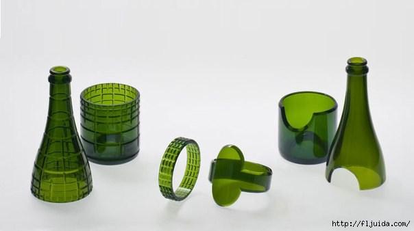 Что можно сделать из стеклянных бутылок своими руками