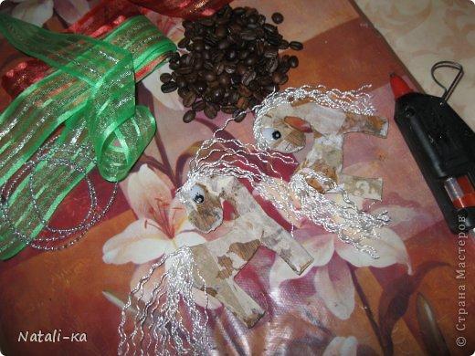 Мастер-класс Новый год Моделирование конструирование МК Новогодняя лошадка елочки кофемания Кофе фото 7