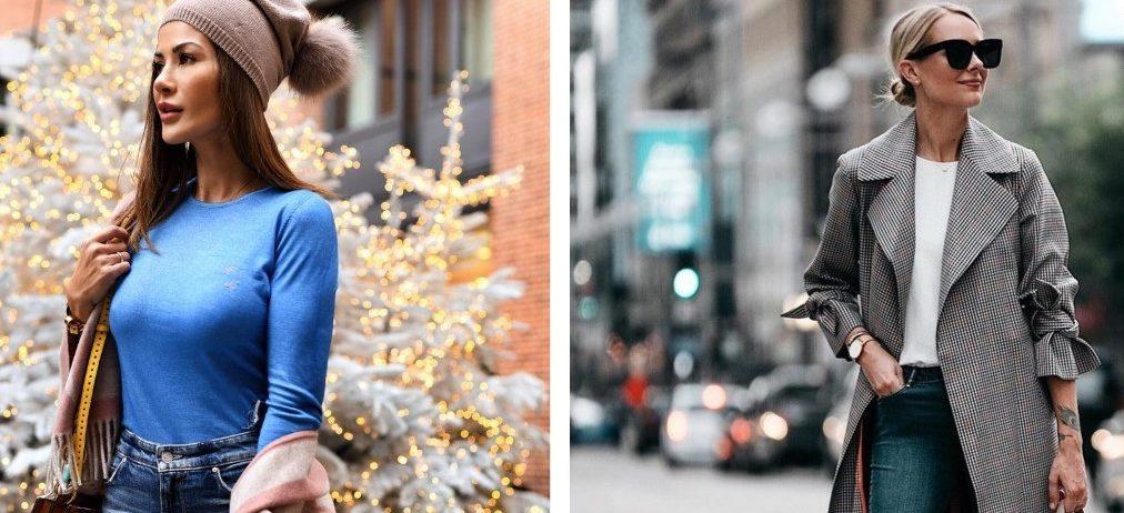 15 самых стильных зимних образов с джинсами для дам за 40