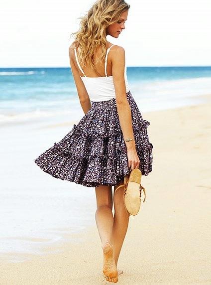 Выкройка трехъярусной юбки от Victoria's Secret