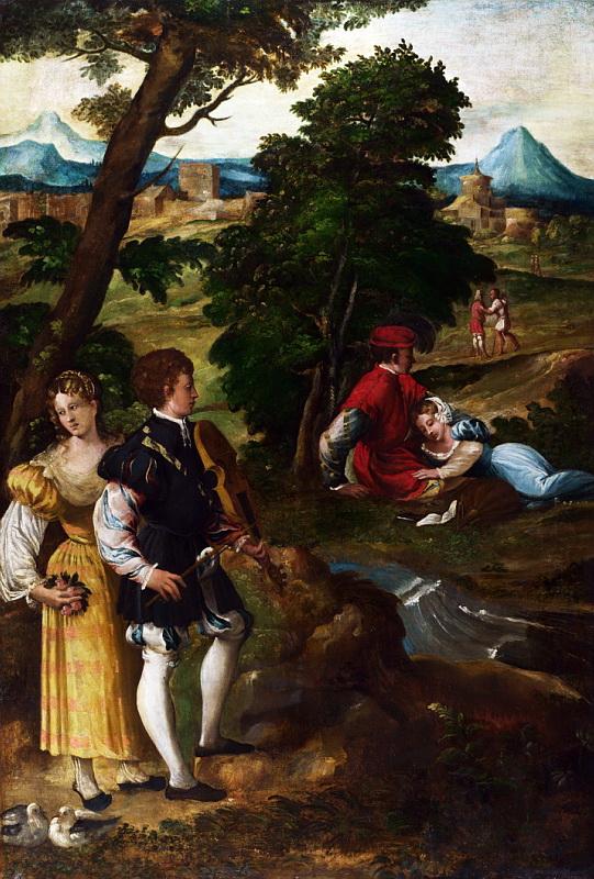 Bernardino da Asola - The Garden of Love. Национальная галерея, Часть 1