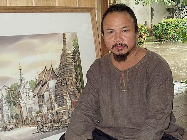 Акварели. Тайский художник Танакорн Чаиджинда (Thanakorn Chaijinda)