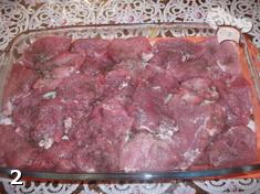 """Свинина в вине под слоеным тестом """"Чеширское мясо"""". Шаг 2"""