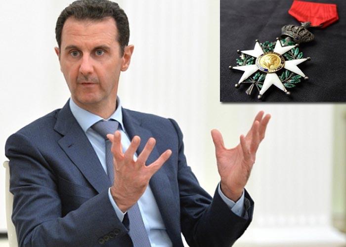 Асада лишат ордена Почетного легиона. Путину приготовиться?