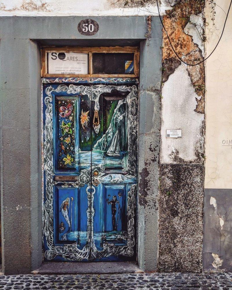 4. дверь, картина, мадейра, португалия, путешествие, фотография, фотомир