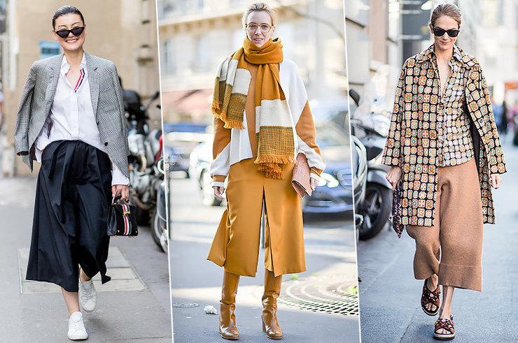 С чем модно носить кюлоты в сезоне осень-зима 2018-2019
