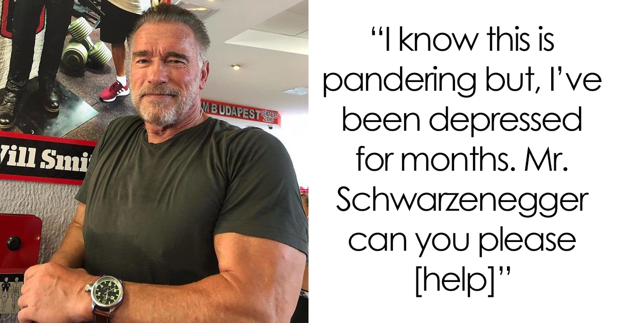 An Internet User Who Was Depressed For Months Asks Schwarzenegger What To Do, Gets The Best Reply