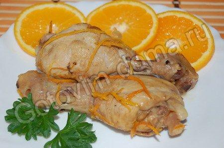 рецепт Курица в апельсиновом маринаде