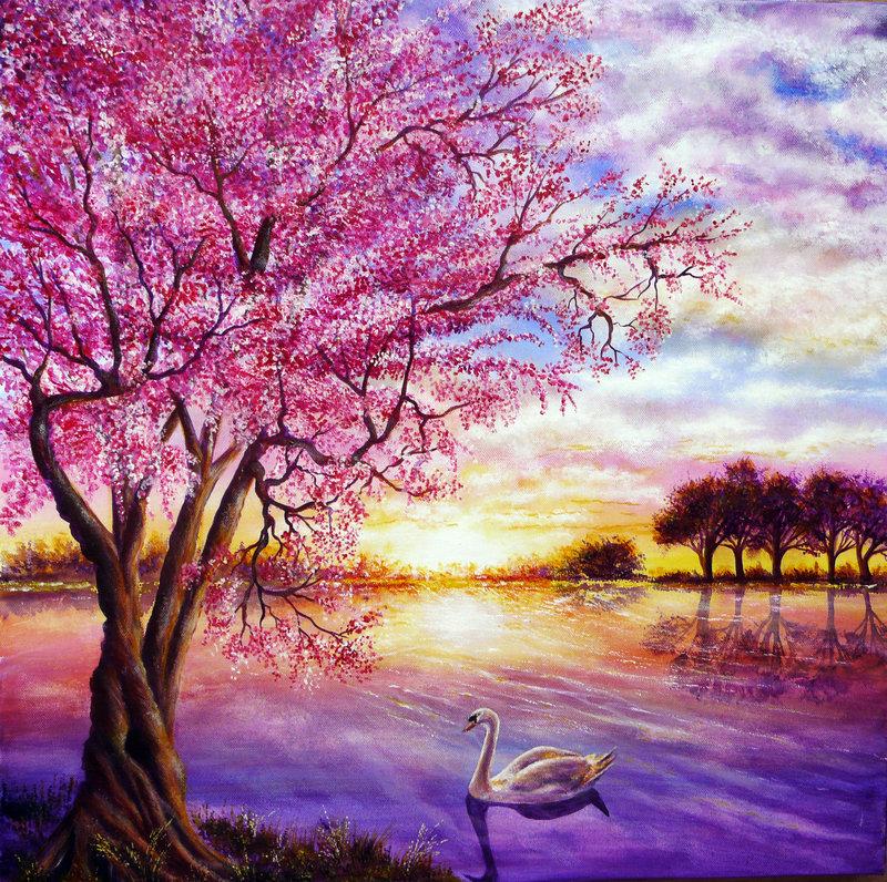 Колоритные яркие пейзажи Энн Мари Бон