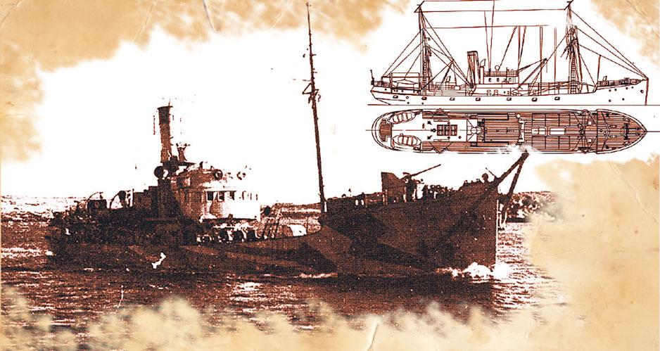 Советский траулер против трех немецких эсминцев