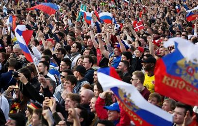 Как болельщики отметили победу сборной России над египтянами