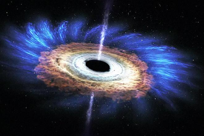 Как черная дыра разрушает звезду на части: видео НАСА