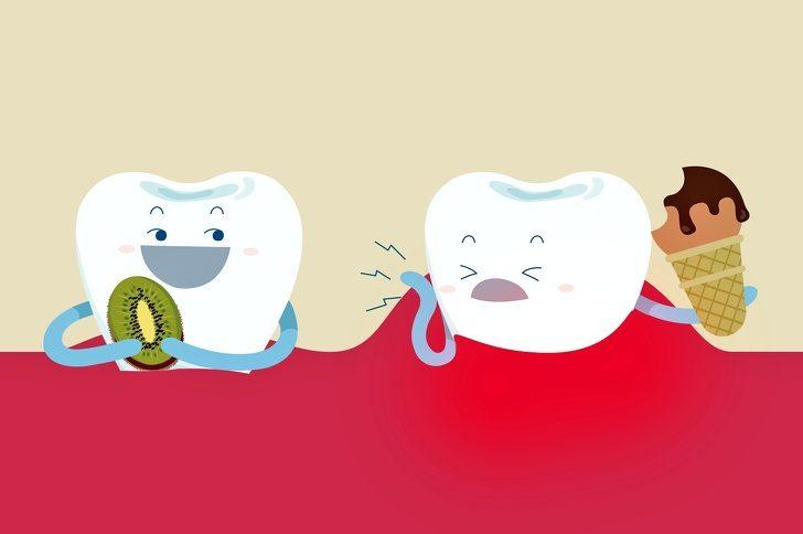 Как отбелить зубы с помощью еды