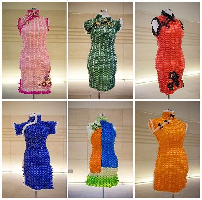 поделки из шариков, платье из шариков, тенденции 2012