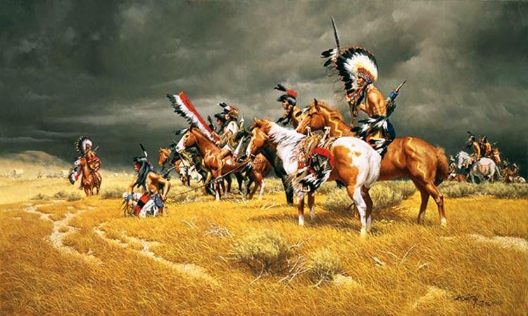 Столкновение американских индейцев с бигфутами-убийцами в 1855 году