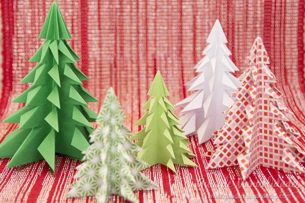Ёлки в стиле оригами