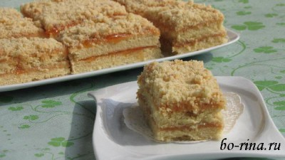 Пирожные «Песочная полоска» с повидлом