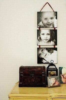 Варианты оформления фотографий в доме