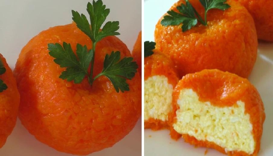 Мандарины круглый год: аппетитная закуска из сыра и яйца