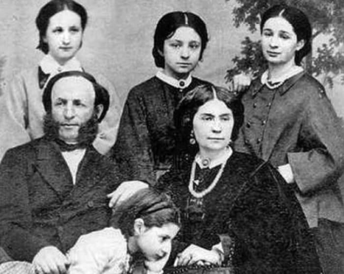 И. Айвазовский, Ю. Гревс и их дочери | Фото: artchive.ru