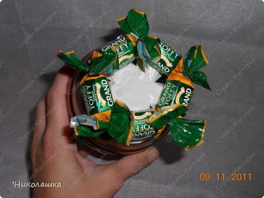 Увидела однажды в интернете ананас из конфет и заболела! Стала интересоваться как это делается, и что это за техника и что еще можно сотворить из конфет. Оказалось, что это свит-дизайн, который покорил и захлестнул меня всецело! . Фото 7