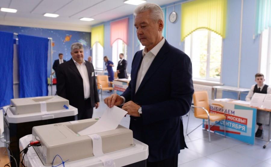 Собянин набрал 74% на выборах мэра по предварительным результатам
