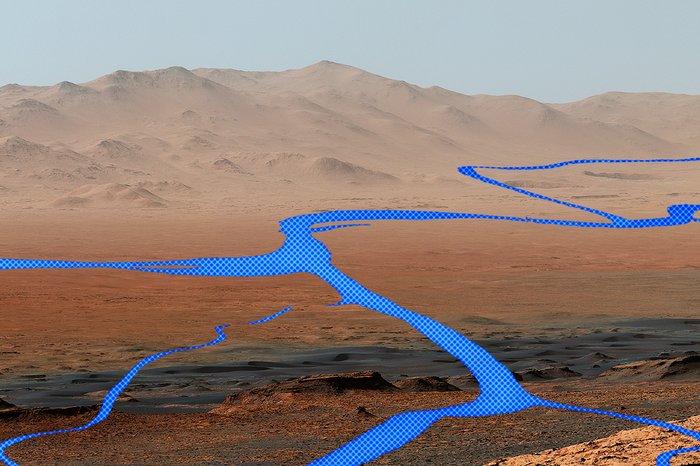 Реки на Марсе поставили новую загадку перед учеными