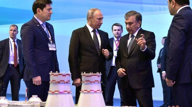 Путин и Мирзиёев запустили с…