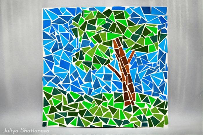 Мозаики из бумаги своими руками