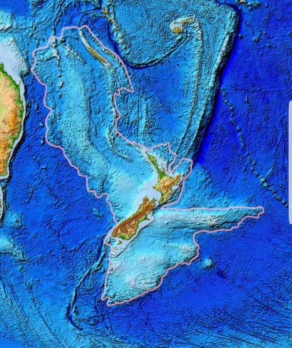 Реальные размеры Новой Зеландии