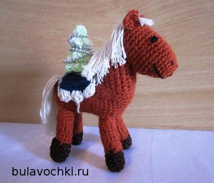 Мастер-класс вязания лошадки