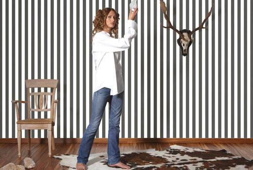 Как покрасить стены в полоск