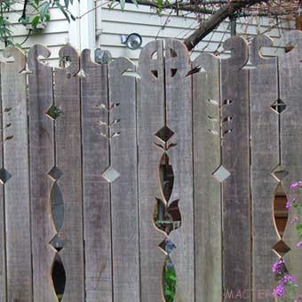 Деревянные заборы и ворота для дачи