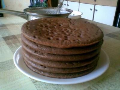 Бисквитные коржи для торта на сковороде рецепт