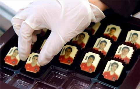Шоколадные футболисты