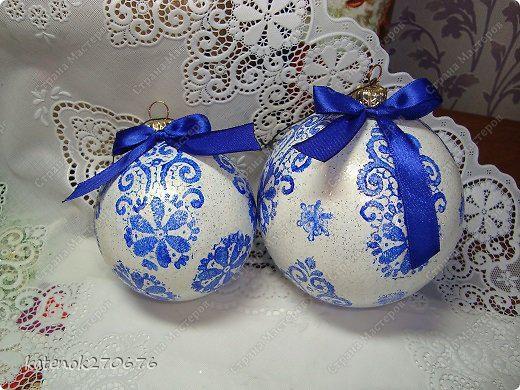Как расписать новогодние шары? Легко! (для НЕумеющих рисовать)
