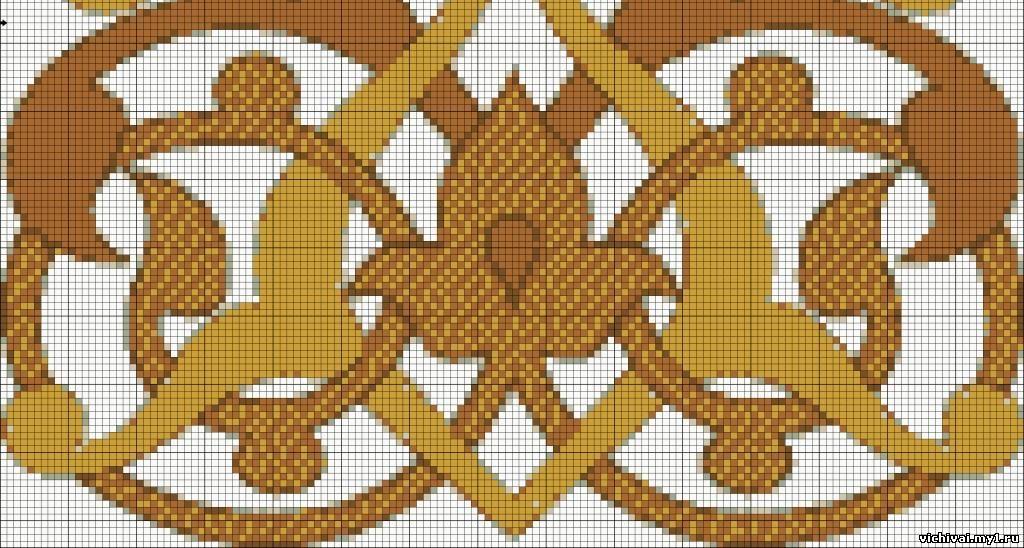 Вышивка крестом кельтские узоры 60