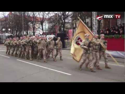 MIX TV: Парад вооруженных сил Латвии 18 ноября 2012 года