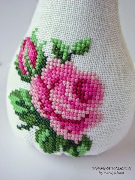 Вышивка чудесной розы 2