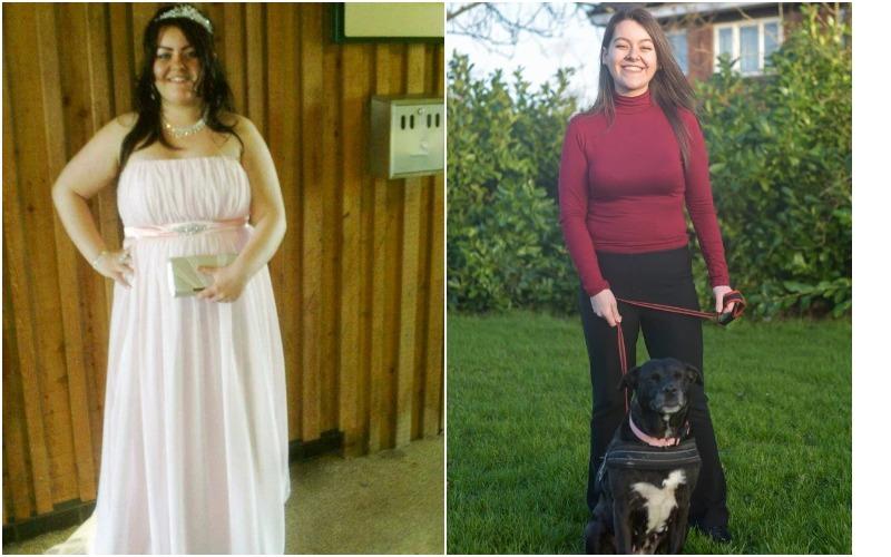 Случайное похудение: девушка сбросила 57 кг, выгуливая собаку