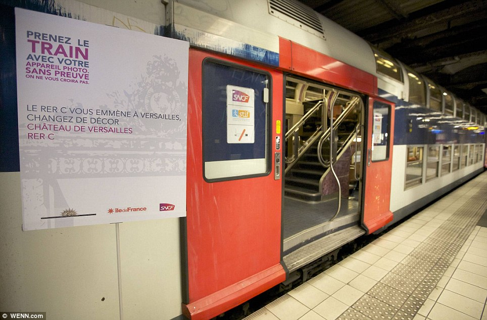 Paris commuter train 15 Версаль в электричке